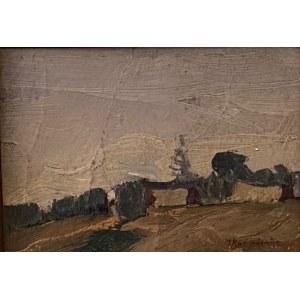 Jerzy Karszniewicz(1878-1945),''Pejzaż wiejski''