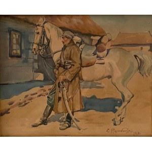 Zygmunt Rozwadowski(1870-1950),''Ułan z koniem''