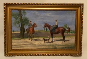 Tadeusz Ajdukiewicz(1852-1916), ''Portret konny podwójny