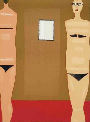 Jerzy Nowosielski (1913-2011), Kobiety z lustrem, 1997r