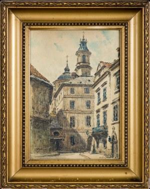 Tadeusz (ojciec) CIEŚLEWSKI (1870-1956), Warszawa – widok na Stare Miasto