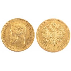 5 RUBLI, Cesarstwo Rosyjskie, Mikołaj II, 1901, ФЗ