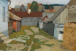 Karol HILLER (1891-1939), Podwórko, 1936