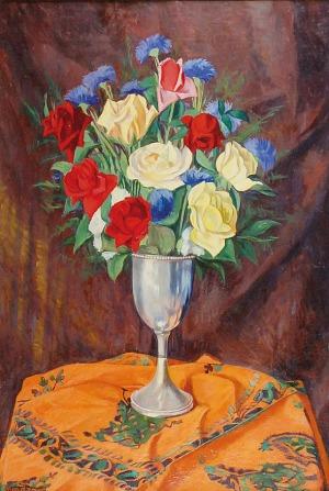 Szymon MONDZAIN (1890-1979), Kwiaty w kielichu