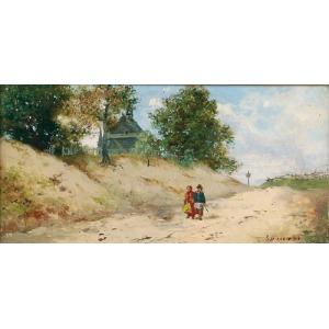 Seweryn BIESZCZAD (1852-1923), Piaszczystą drogą