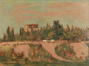 Bencion RABINOWICZ - BENN (1905-1989), Pejzaż