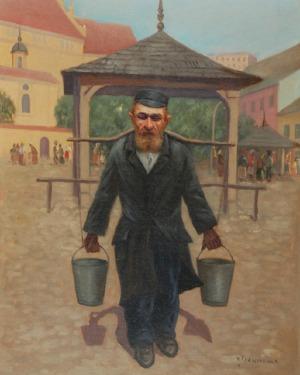 Konstanty SZEWCZENKO (1910-1991), Żydowski nosiwoda na Rynku w Kazimierzu