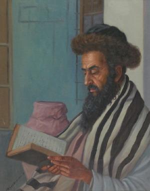 Konstanty SZEWCZENKO (1910-1991), Żyd czytający Talmud