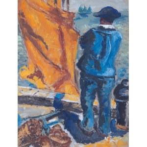 Emmanuel Katz, zw. Mané-Katz (1894-1962), Port w Bretanii (St Gilles-Croix-De-Vie), ok. 1927 r.