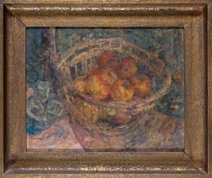 Eugeniusz Eibisch (1895-1987), Martwa natura z jabłkami w koszyku