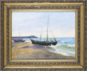 Ignacy Zygmuntowicz (1875-1947), Kutry rybackie w Rozewiu, okres międzywojenny