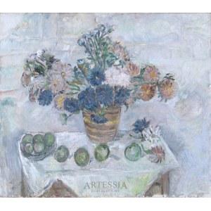 Tytus Czyżewski (1880-1945), Martwa natura z kwiatami i jabłkami