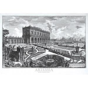 Giovanni Battista (Giambattista) Piranesi (1720-1778), Veduta della Villa dell'Emo Sig.n Card. Alesandro Albani fuori di Porta Salaria, 1769