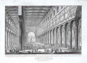 Giovanni Battista (Giambattista) Piranesi (1720-1778), Spaccato interno della Basilica di S. Paolo fuori delle Mura, ok. 1749