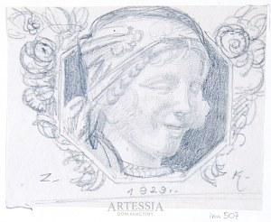 Zygmunt Kamiński (1888-1969), Głowa kobiety - Projekt dla PWPW, 1929