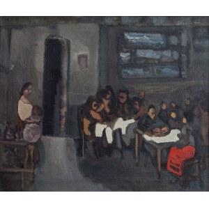 Alfred ABERDAM (1894-1963), Scena w Karczmie