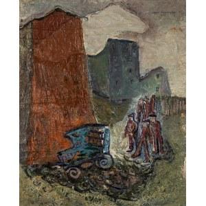 Adam MARCZYŃSKI (1908-1985), Pejzaż industrialny, II poł. lat 30. XX w.