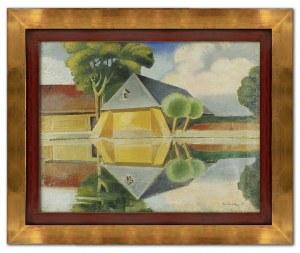 Karol HILLER (1891-1939), Spichrz nad stawem, 1925