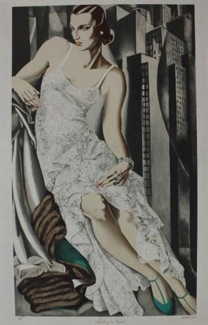 Tamara de Lempicka wg (1898-1980), Lady in lace