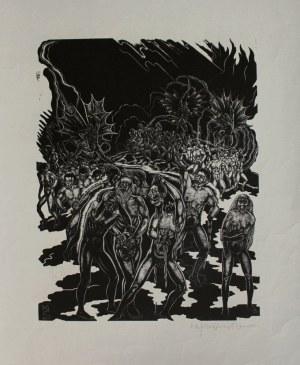 """Stefan Mrożewski (1894-1975), Ilustracja do """"Boskiej komedii"""" Dantego. Piekło, Pieśń XXVIII"""