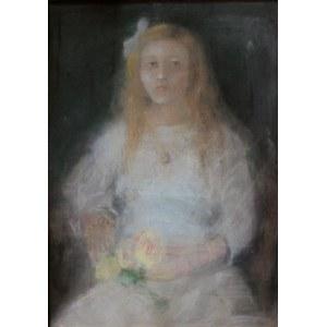 Kazimierz Sichulski (1879-1942), Portret dziewczyny z różam