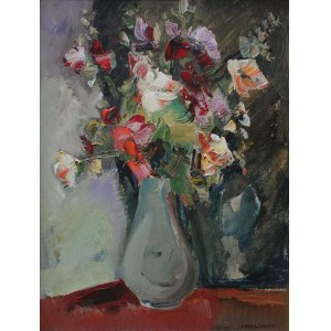 Józef Wasiołek (1921-2008), Kwiaty w wysokim wazonie
