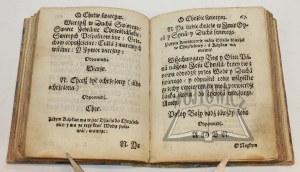 MALECKI Hieronim, Vstawa albo porząd Kościelny y Ceremonie yako w nauczaniu Słowa Bożego y podawaniu Swiątośći w Kośćielech Xięstwa Pruskiego ma być zachowany.