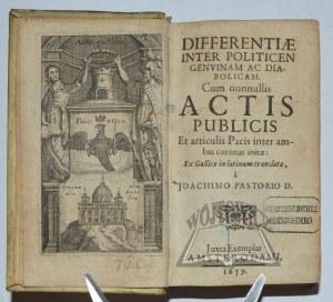 PASTORIUS Joachim, Differentiae inter politicen genuinam ac diabolicam.