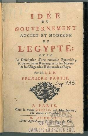 (LE MASCRIER Jean-Baptiste), Idee du Gouvernement ancien et moderne de l'Egypte.