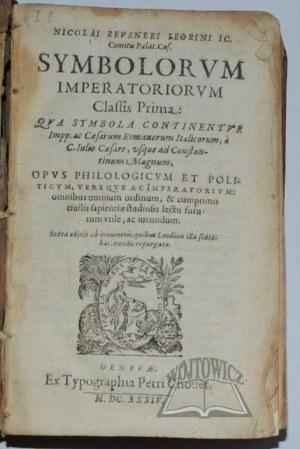 REUSNER Nikolus, Symbolorum Imperatoriorum.
