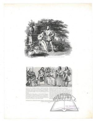 OLESZCZYŃSKI Antoni (1794-1879)., Jan Tenczyński i Cecylia królewna szwedzka.