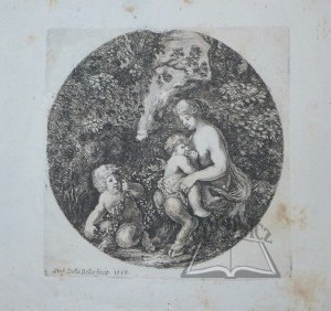 STEFANO della Bella (1610-1664), Żona satyra z dziećmi.