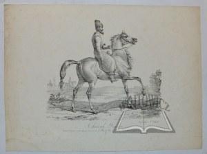VERNET Carle, Delpech, Cheval Persan. Dessine d'apres un des chevaux envoyes par le Roi de Perse a S. A. R. le Prince regent d'Angleterre.