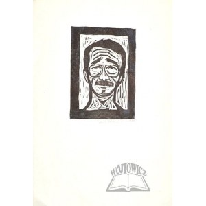 FEDOROWICZ Jacek (ur. 1937)., Autoportret - karykatura.