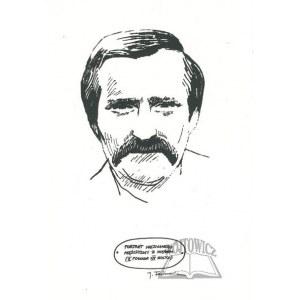 FEDOROWICZ Jacek (ur. 1937)., (Lech Wałęsa). Portret nieznanego mężczyzny z wąsem (II połowa XX wieku). Karykatura.
