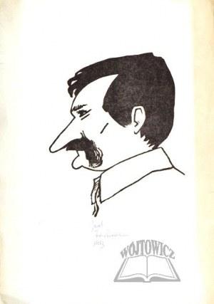 FEDOROWICZ Jacek (ur. 1937)., Lech Wałęsa. Karykatura.