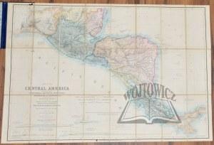 (AMERYKA środkowa). BAILY John - Map of Central America