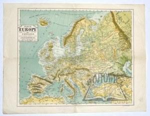 (EUROPA). BAZEWICZ Józef Michał - Mapa Europy fizyczna.