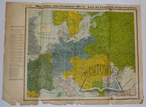 (EUROPA). Feleński J. - Mapa terenu wojny Europejskiej 1914/15.