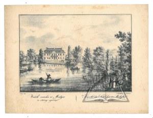 (MEDYKA) Widok zamku w Medyce ze strony ogrodu.