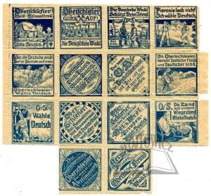 (PLEBISCYT). Zbiór 14 znaczków.