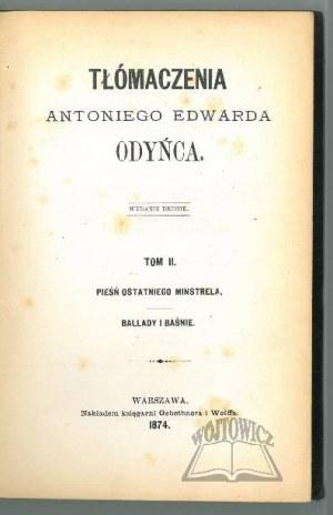 ODYNIEC Antoni Edward, Tłómaczenia.