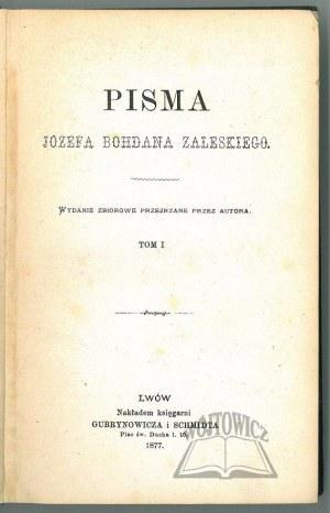 ZALESKI Józef Bohdan, Pisma.