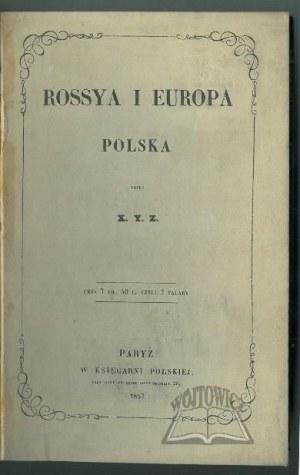(KAMIEŃSKI Henryk), Rossya i Europa - Polska.