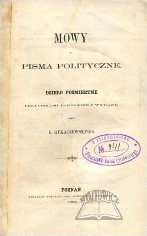 LELEWEL Joachim, Mowy i pisma polityczne .