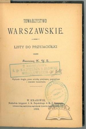 (ZALESKI Antoni), Towarzystwo Warszawskie.