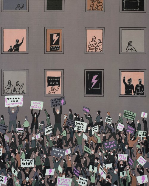 Michał Cygan, Strajk Kobiet, 2020