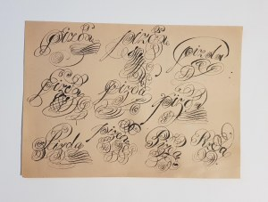 Starowieyski Franciszek, kaligrafia niecenzuralna