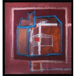 Iwona Stachura (ur. 1968), Recykling szkicu. Różowy 5, 2021
