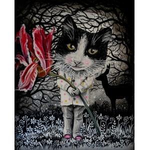Marta Julia Piórko (ur. 1981), Czerwony tulipan, 2021